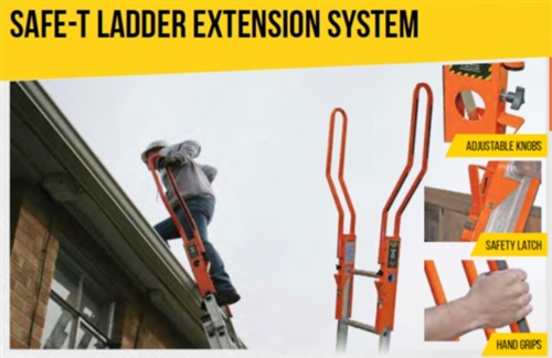 Guardian fall protection safe t ladder rail extension system - Vult extension ...