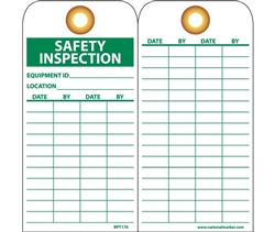 Safety Inspection Tags, Grommets RPT170G