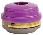 North Respirator Cartridge, Mercury Vapor/Chlorine Gas P100, 75852P100L