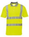 Portwest Type R Class 2 Short Sleeve Polo Shirt, Hi Vis Yellow