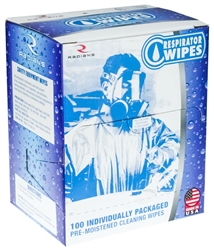 Radians Respirator Cleaning Wipes, RW100