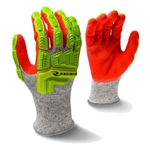 Radians Hi-Viz Cut Resistant Gloves with TPR, ANSI A5