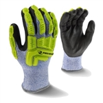 Radians Cut Resistant Winter Work Glove with Hi-Viz TPR, ANSI A4, RWG604
