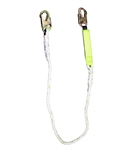 SafeWaze 6 Ft Shock Absorbing Lanyard, Rope FS33215