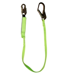 SafeWaze 6 Ft Energy Absorbing Lanyard, Rebar Hook FS565
