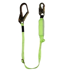 SafeWaze 6 Ft Adjustable Energy Absorbing Lanyard, Hook FS565-AJ