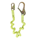SafeWaze 6' Stretch Low Profile Elastic Energy Absorbing Lanyard With Rebar Hook, FS595