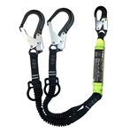 SafeWaze Pro+ 6' Dual Leg Stretch SAL with Rescue D-Rings, FS88761-FF-ALU