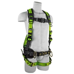 SafeWaze Pro+ Flex Construction Harness, 3 D-Rings, Belted, FS-FLEX360