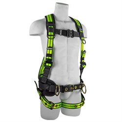 SafeWaze Belted Construction Harness, 3 D-Rings FS-FLEX360