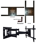 Portrait Landscape Rotating TV wall Mount Samsung UN55H7150FXZA  - All Star Mounts ASM-501L