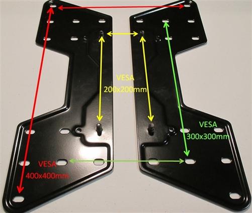 Vesa 400x400mm Adapter Plates