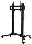 Heavy duty mobile cart for flat screen displays