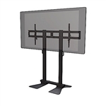 "Extra Heavy Duty NEC X981UHD-AVT2 98"" TV height adjustable floor stand - adjustable tilt, VESA 400x400mm compatible"