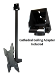 Cathedral Ceiling TV Mount Bracket Kit for TVs - Crimson C55V
