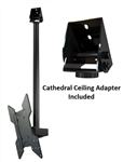 Cathedral Ceiling TV Mount Bracket Kit for TVs Crimson C55V
