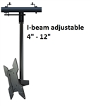 I-Beam Clamp Tilting Ceiling Mount Kit with 10ft pole