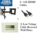 Full Motion Plasma LED LCD TV Wall Mount extends 26in