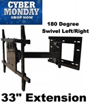 Articulating TV Mount 33in extension Cyber Monday Sale