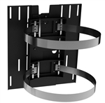 24 inch Diameter Column Wrap Clamp Dual TV mounting system