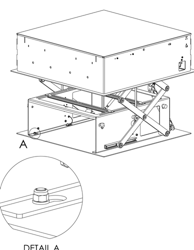 Motorized Projector Mount Lowers And Raises