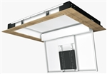 Motorized Electric Hinged Ceiling TV Bracket for 65inch to 75 inch Displays 100 degree swing down