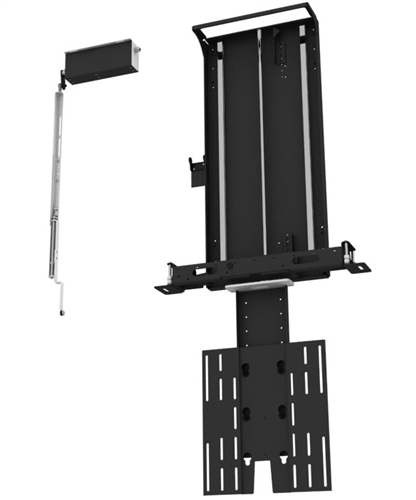 Motorized inverted drop thru ceiling tv bracket for Motorized vertical tv lift