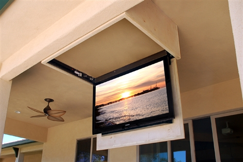 to screen tv pipe mount from how macgyverisms ceiling wonderhowto unistrut flat and a simple build