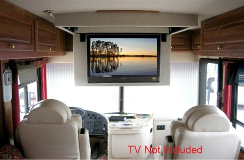 Motorized flip down ceiling bracket for lg 65uh7650 for Motorized ceiling flip down tv mount