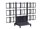 NEC E552 video wall cart - Premier MVWC-3X3 3x3