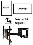 Samsung UN50JU7500FXZA Portrait Landscape 90 degree Rotating Wall Mount - ASM-501M