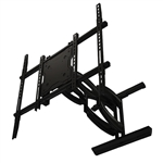 Articulating TV Wall Bracket fits 42 inch to 80 inch displays Extends 27 inches with 3.4 inch depth from wall collapsed 50 deg swivel