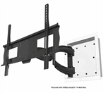 Recessed in-wall articulating rotating TV wall mount bracket. The bracket collapses to just 1.2 inches from the wall, extends 28 inches and swivel 180 deg.