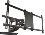 LG 75SM9070PUA SM9070 Series TV Heavy duty Articulating wall mount has 27 inch extension 50 deg swivel and adjustable tilt