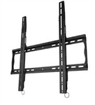Low profile flat TV wall mount bracket with post installation leveling VESA compatible