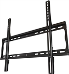 Low profile flat wall mount bracket fits 32 in to 55 in displays has depth of 1.2 inch from wall 200 lb capacity