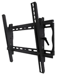 Universal tilting wall mount bracket 23in to 46in flat panels - adjustable tilt - 2.2 inch depth from wall 150lb capacity