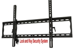 Anti theft lockable tilting TV wall mount bracket dual locking arms dual stud wall plate mounting hardware included