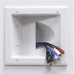 Recessed Low Voltage Cable Wall Plate