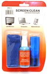 Flat panel screen cleaning kit