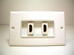HDMI Decora Style Wall Plate with 4 inches built-in cab
