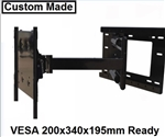 TV wall mount bracket with 31.5in extension VESA 200x340x195mm- LG 55EG9600 All Star Mounts ASM-504M