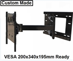 TV wall mount bracket with 33 inch extension - LG 55EG9200  All Star Mounts ASM-504M Custom