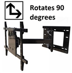 Rotating TV bracket Samsung UN60JU7090FXZA - All Star Mounts ASM-504M-Rotate