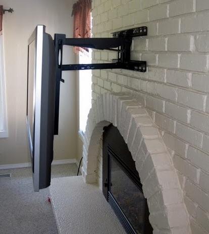 Wall Mount World | Samsung UN65HU8500 Fireplace TV Mount bracket