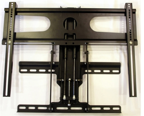 "Wall Mount Worlds sells this Fireplace TV mount the pulls out then lowers downward up to 30"". The fireplace mount automatically locks when in the up position. Capacity 110 lbs"