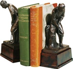 Putting Golfer on Pedestal Bookends by Oklahoma Casting