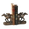 Half Horse and Rider Bookends by Oklahoma Casting