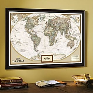 Geographic Map Of Earth.National Geographic Earth Tone Personalized World Map Ships Free