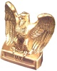 USA Eagle Bookends in Antique Silver or Gold